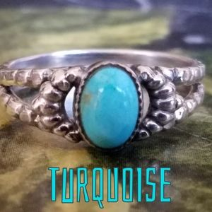 Turquoise Ring Sterling Silver NEW